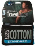 Sea to Summit Premium Cotton Travel Liner Traveller (with Pillow slip) navy blue
