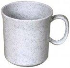 Waca Melamin Henkelbecher, 400 ml granit