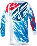 Fly Racing Kids Jersey Kinetic Relapse, M, Rot