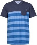 Lyngor Tee, white/navy striped/g M