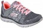 Skechers - Flex Appeal 2.0 High Energy Damen Trainingsschuh (grau/pink) - EU 38