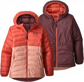 Patagonia Girls Reversible Down Sweater Hoody | Größe S,M,L,XL | Kinder Daunenjacke