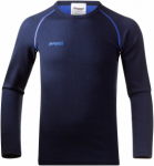 Bergans Akeleie Youth Shirt Blau, Kinder Merino Langarm-Shirt, 164