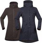 Bergans Bjerke 3in1 Lady Coat Blau / Braun | Größe M | Damen Freizeitmantel