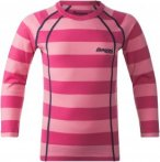 Bergans Fjellrapp Kids Shirt Pink, Merino 92 -Farbe Lollipop Striped, 92