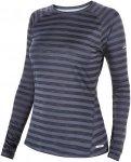 Berghaus Tech Tee Stripe Baselayer Blau-Gestreift, Damen Langarm-Shirt, S -10 Da
