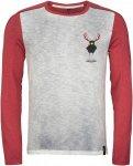 Chillaz Alaro Hirschkrah Longsleeve Rot, Male Langarm-Shirt, L