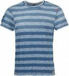Chillaz Mens Rigi Circled T-Shirt Blau-Gestreift, S, Herren Kurzarm-Shirt