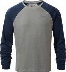 Craghoppers Nosilife Bayame Langarm T-Shirt Blau-Grau, Herren Langarm-Shirt, M