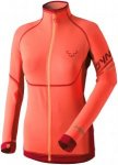 Dynafit Ultra Longsleeve Full Zip Rot, Damen Langarm-Shirt, Größe 40 -Farbe Fl