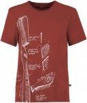 E9 Preserve Rot, Herren Kurzarm-Shirt, XL