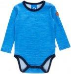 Finkid MUN Wool Blau, Kinder Merino Oberteil, 70 -80