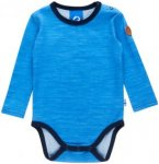 Finkid MUN Wool Blau, Kinder Merino Oberteil, 90 -100