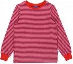 Finkid Rivi Pink-Gestreift, Kinder Langarm-Shirt, Größe 110-120 -Farbe Dusty R
