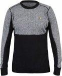 Fjällräven Bergtagen Woolmesh Sweater Schwarz-Grau, Herren Merino Oberteil, XX