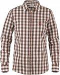 Fjällräven Sörmland Shirt Long-Sleeve Weiß-Rot, Damen Langarm-Hemd, XL