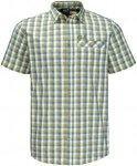 Jack Wolfskin Napo River Shirt (Modell Sommer 2017) Grün, Herren Kurzarm-Hemd,