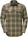 Jack Wolfskin Valley Shirt Grün, Herren Langarm-Hemd, S
