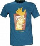 La Sportiva Reaching The Top T-Shirt Blau, Herren Kurzarm-Shirt Herren Kurzarm-S