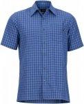 Marmot Eldridge Short-Sleeve Blau, Herren Kurzarm-Hemd, XL