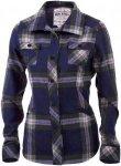 Mons Royale Merino Mountain Shirt Blau, Damen Merino Langarm-Hemd, S
