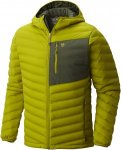 Mountain Hardwear Mens STRETCHDOWN HOODED JACKET, Python Green,
