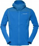 Norrona Falketind Warm1 Stretch Zip Hoodie Blau, Male Polartec® Fleecejacke, M