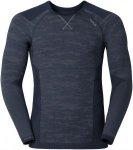 Odlo Shirt L/S Crew Neck Blackcomb Evolution Warm Blau-Schwarz-Grau, Herren Ober