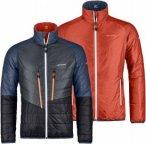 Ortovox Swisswool Light Jacket Piz Boval Orange-Grau, Herren Daunen Jacke Herren