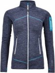 Ortovox Merino Fleece Light Melange Jacket Blau, Damen Merino Fleece Jacke, XS