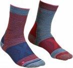Ortovox Merino Socks Alpinist Mid Rot-Grau, Damen Merino Socken, Größe 39-41 -
