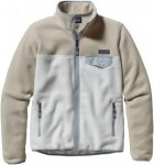 Patagonia Full-Zip Snap-T Fleece Jacket Weiß-/ Beige, Damen Fleece Jacke, XS