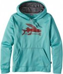 Patagonia Flying Fish Polycycle Hoody Blau, Herren Fleece-& Powerstretch-Pullove