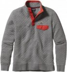 Patagonia Cotton Quilt Snap-T Pullover Grau, Damen Freizeitpullover, XL