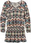 Patagonia Kamala Drop Waist Tunic Beige-Mehrfarbig, Damen Langarm-Shirt, L