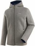 Salewa Sarner 2-Lagen Wool Full-Zip Hoody Grau, Herren Freizeitjacke, L