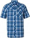 Vaude Bessat Shirt II Blau-Weiß, Herren Kurzarm-Hemd, XXL