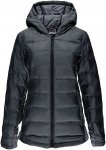 Spyder Womens SOLITUDE HOODY DOWN JACKET, Black -Black,