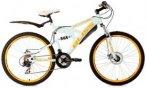 Fully-Mountainbike, 26 Zoll, weiß, 21 Gang Kettenschaltung, »Bliss«, KS Cycli