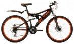 KS Cycling Fully-Mountainbike, 26 Zoll, schwarz-orange, 21 Gang-Kettenschaltung,