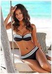 Lascana Bügel-Bandeau-Bikini im eleganten Streifen-Design