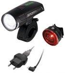 Sigma Sport 4er Set: LED Fahrradbeleuchtung, black, »Sportster Mono RL Komplett