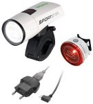 Sigma Sport 4er Set: LED Fahrradbeleuchtung, white »Sportster Mono RL Kompletts