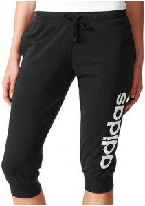adidas ESSENTIALS LINEAR 3/4 PANT Sporthose Damen schwarz-weiß