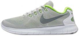 Nike FREE RN 2017 Laufschuhe Damen grau-gelb