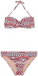 CHIEMSEE Bandeau Bikini-Set gemustert mit abnehmbaren Trägern, Größe S