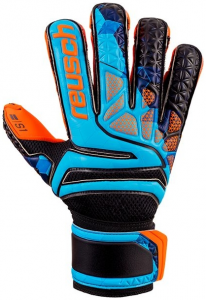 REUSCH Herren Handschuhe Prisma Prime S1 Evolution Finger Support LTD, Größe 9 in Orange