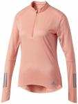 ADIDAS Damen Lauftop RS LS ZIP TEE W, Größe L in Pink