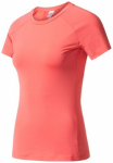 ADIDAS Damen T-Shirt / Trainingsshirt Speed Tee, Größe XS in Braun