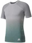 ADIDAS Herren Primeknit Wool Dip-Dye T-Shirt, Größe M in Grau